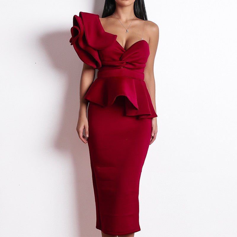 Sexy Strapless Solid A-Line Party Dress