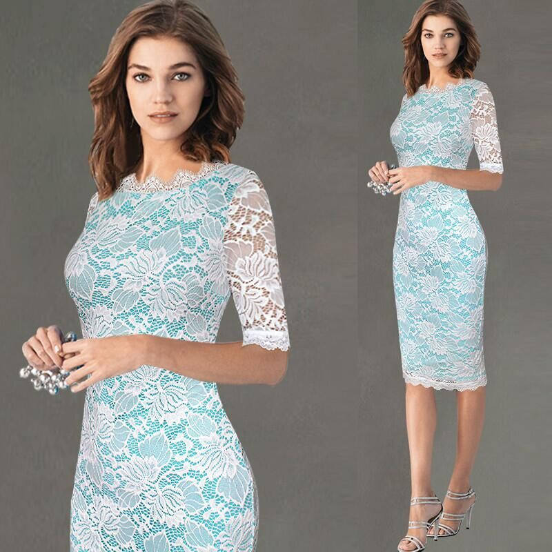 Sexy Lace Crochet Hollow Out Dress Suit