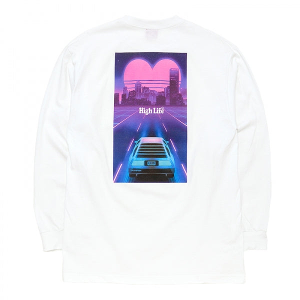 HighLife / Miami Retro L/S Tee - White -