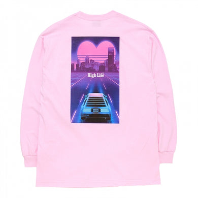 HighLife / Miami Retro L/S Tee - Pink -