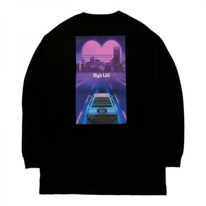 HighLife / Miami Retro L/S Tee - Black -