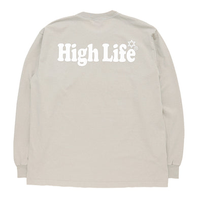 HighLife / Garment Dye L/S Tee - Beige -