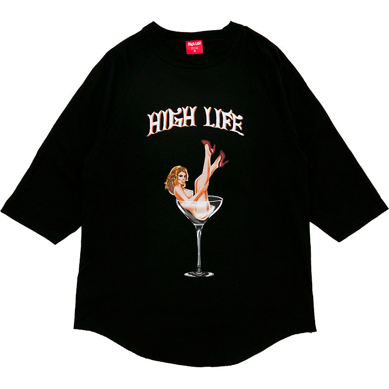 HighLife / Bitch In The Glass 3/4 Raglan - Black -