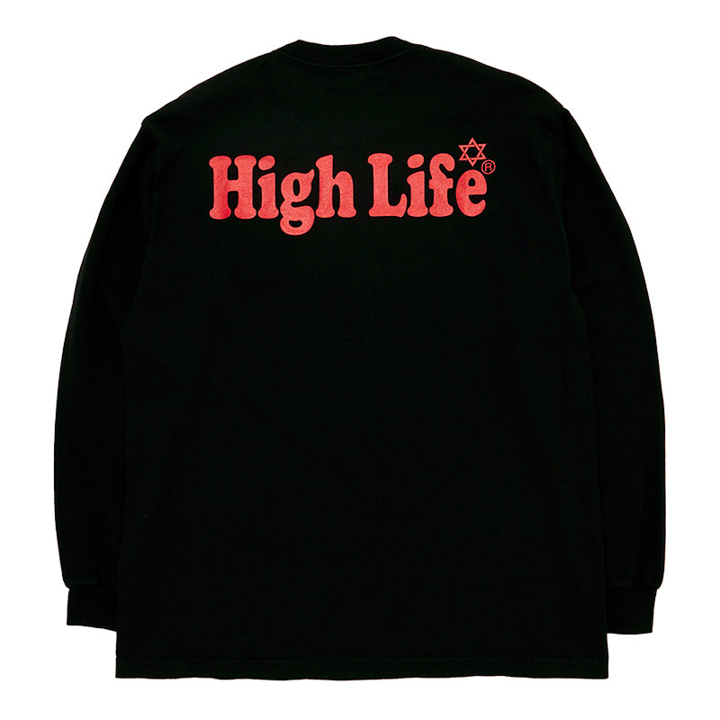HighLife / Garment Dye L/S Tee - Black -