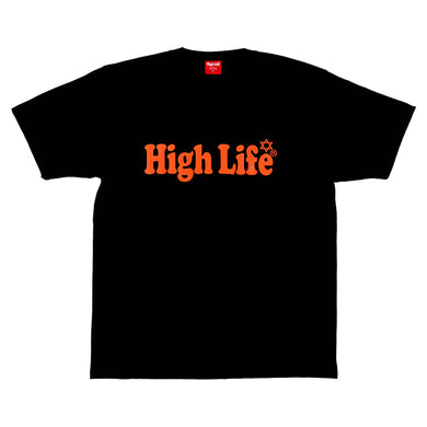 HighLife / Main Logo Tee - Black×Orange -