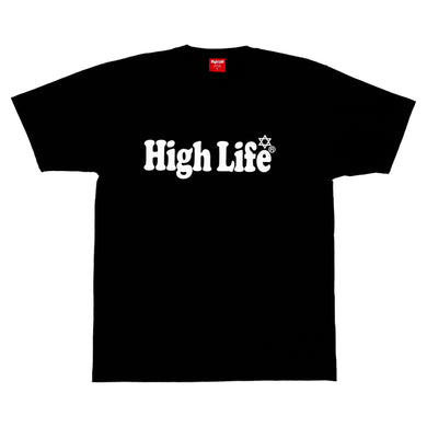 HighLife / Main Logo Tee - Black×White -