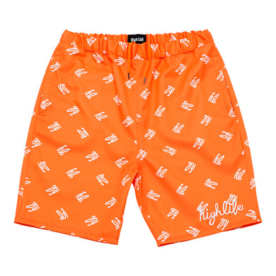 HighLife / hl Monogram Nylon Shorts - Orange -