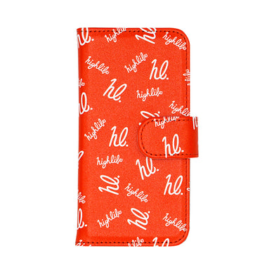 HighLife / hl Monogram I-Phone Cover - Orange -