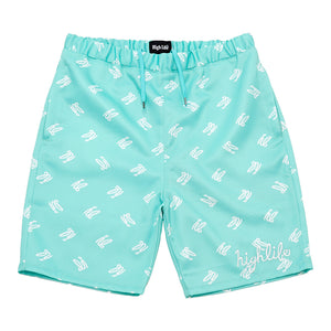 HighLife / hl Monogram Nylon Shorts - Tiffany -