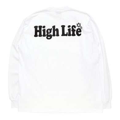 HighLife / Garment Dye L/S Tee - White -