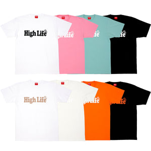 HighLife / Main Logo Tee - White×Black -