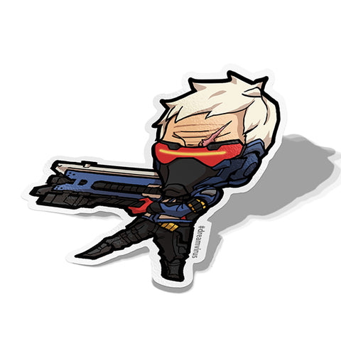 Soldier 76 Sticker - BRAVE! Ink Studio