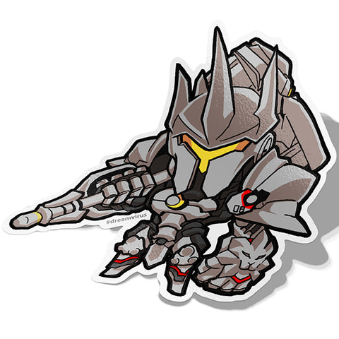 Reinhardt Sticker - BRAVE! Ink Studio