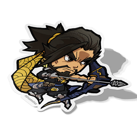 Hanzo Sticker - BRAVE! Ink Studio