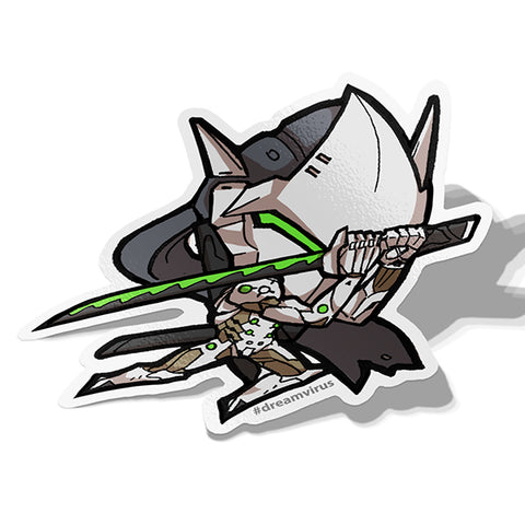 Genji Sticker - BRAVE! Ink Studio
