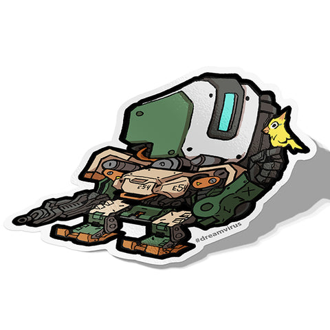Bastion Sticker - BRAVE! Ink Studio