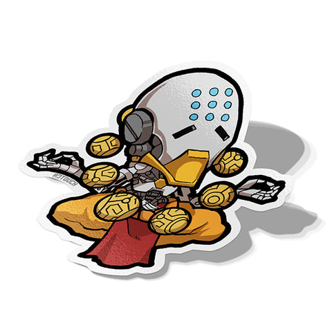 Zenyatta Sticker - BRAVE! Ink Studio