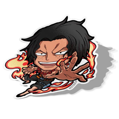 Portgas D. Ace-Chibi Anime Manga-Vinyl Sticker-One Piece-AJTouch