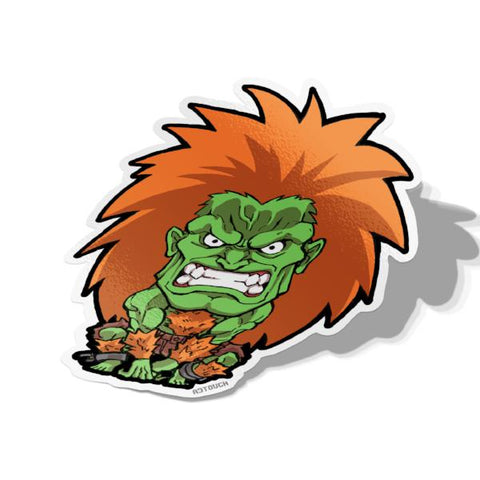 Blanka, Vinyl Sticker, Street Fighter, AJTouch