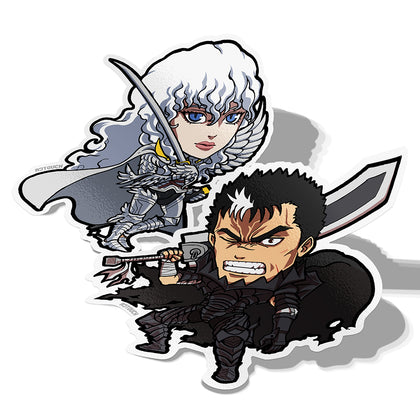 Guts and Griffith, Vinyl Sticker, Berserk, AJTouch