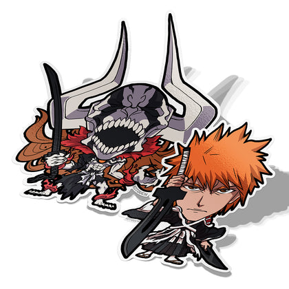 Ichigo and Hollow Ichigo, Vinyl Sticker, Bleach, AJTouch