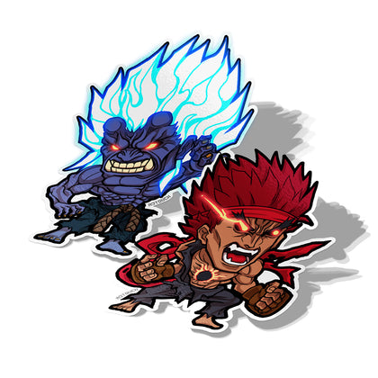 Oni X Evil Ryu, Vinyl Sticker, Street Fighter IV: Arcade Edition, AJTouch
