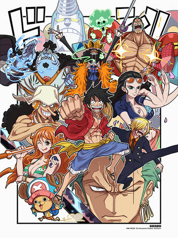 The Strawhat Pirates-Chibi Anime Manga-Print-One Piece-AJTouch
