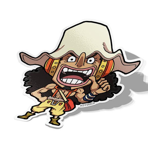 Usopp-Chibi Anime Manga-Vinyl Sticker-One Piece-AJTouch
