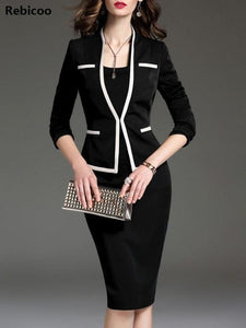 Fashion female Blazer ladies Vogue casual office tops