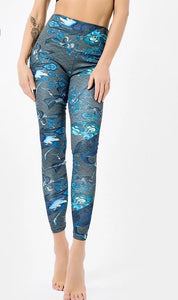 High Waist Print Leggings - The Land of Florals