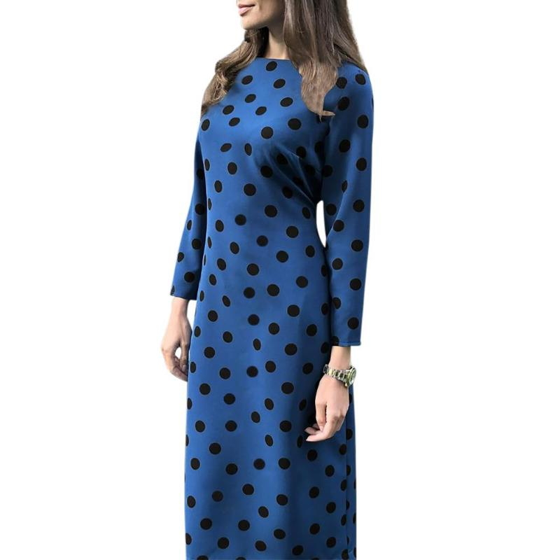 Dot Tunic Round Collar Dress - The Land of Florals