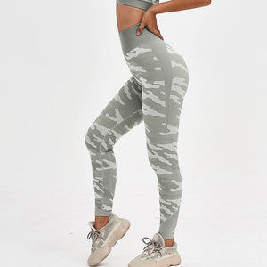 Camouflage Women Gym Leggings - The Land of Florals