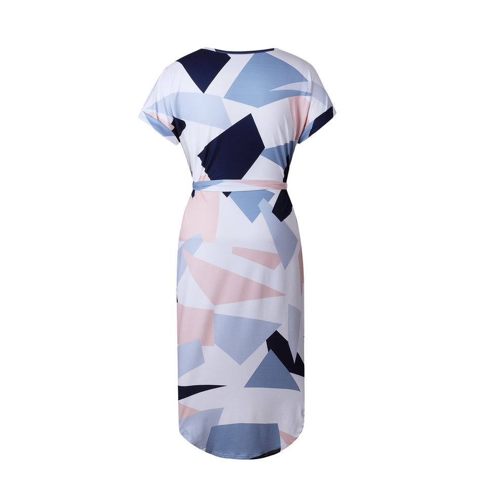 Womens Geometric Print Dress Women - The Land of Florals