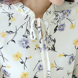 Floral Long Sleeve Shirts Print - Chiffon Fabric - The Land of Florals