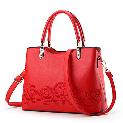 Rose Embroidered Fashion Handbag