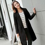 Warm Woolen Waterfall Style Formal Coat - The Land of Florals