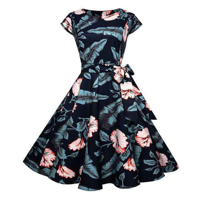 Womens Summer Elegant Vintage Style Retro Dress