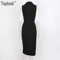 Womens Marilyn Monroe Inspired Sleeveless Office Lady Dress