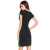Womens Sequinned Contrast Panel Dress
