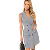 Plaid Wrap Button Pockets Vintage Dress
