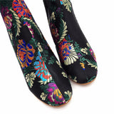 Floral Embroidered 6cm Block Heel Boots - The Land of Florals
