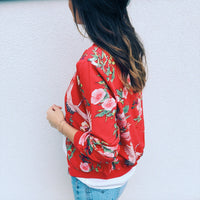 Floral Teal Jacket Coat