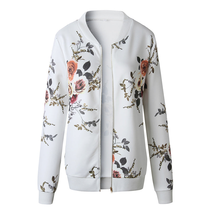 Floral Teal Jacket Coat - The Land of Florals