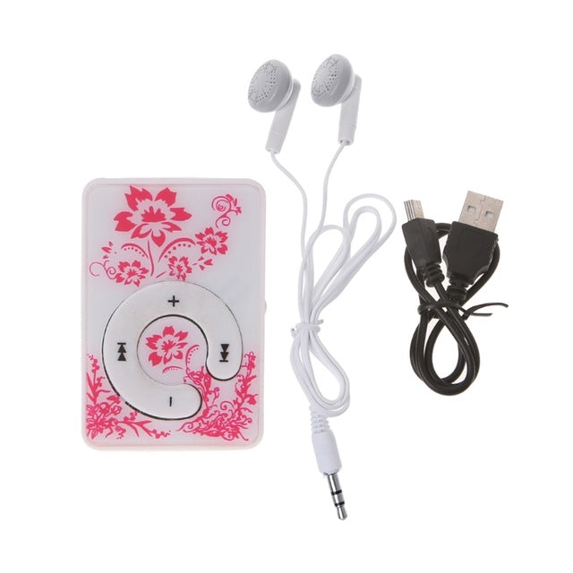 Floral Music MP3 Player 32GB TF Card With Mini USB Cable & Earphones - The Land of Florals