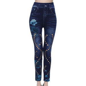 Denim Pencil Style Jeans - The Land of Florals