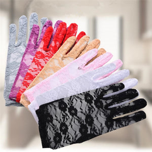 Deluxe French-Inspired Floral Lace Gloves - The Land of Florals