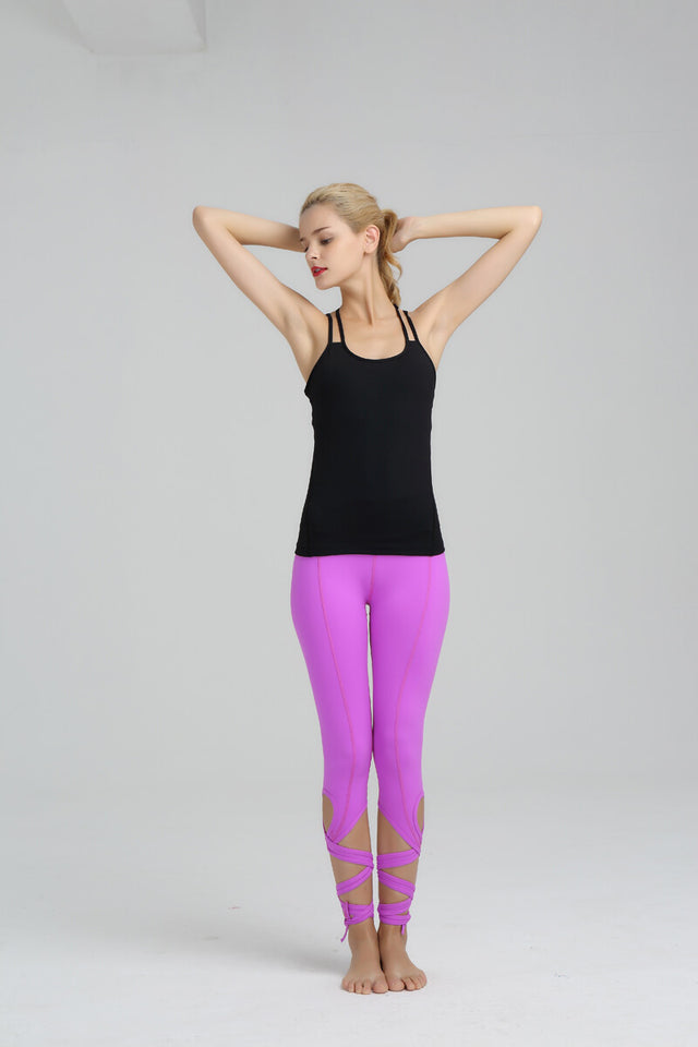 High Waist Yoga  Leggings - The Land of Florals