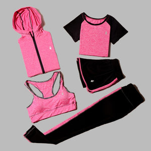 5 Piece Yoga Set - Women's Wear - The Land of Florals