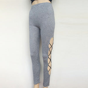 High Waist Hollow Legging - The Land of Florals