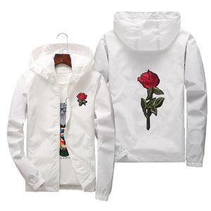 Unisex windbreaker with Rose design